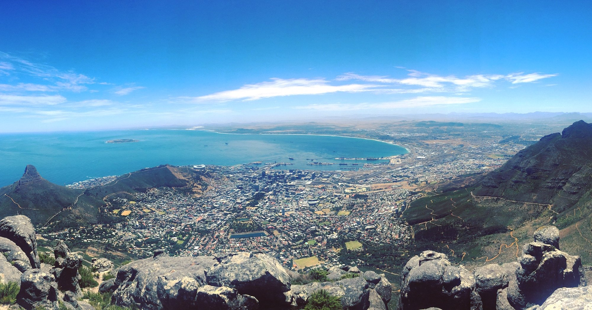 Top of Table Mountain View of Cape Town & Lion's Head