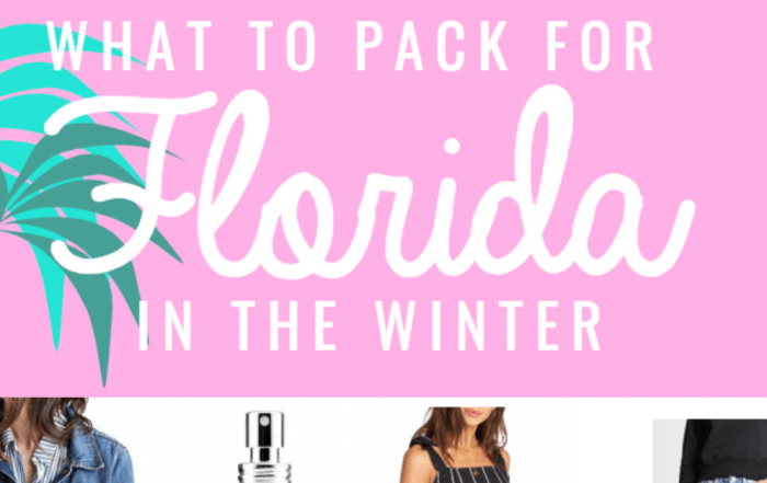 What to pack for florida in the winter