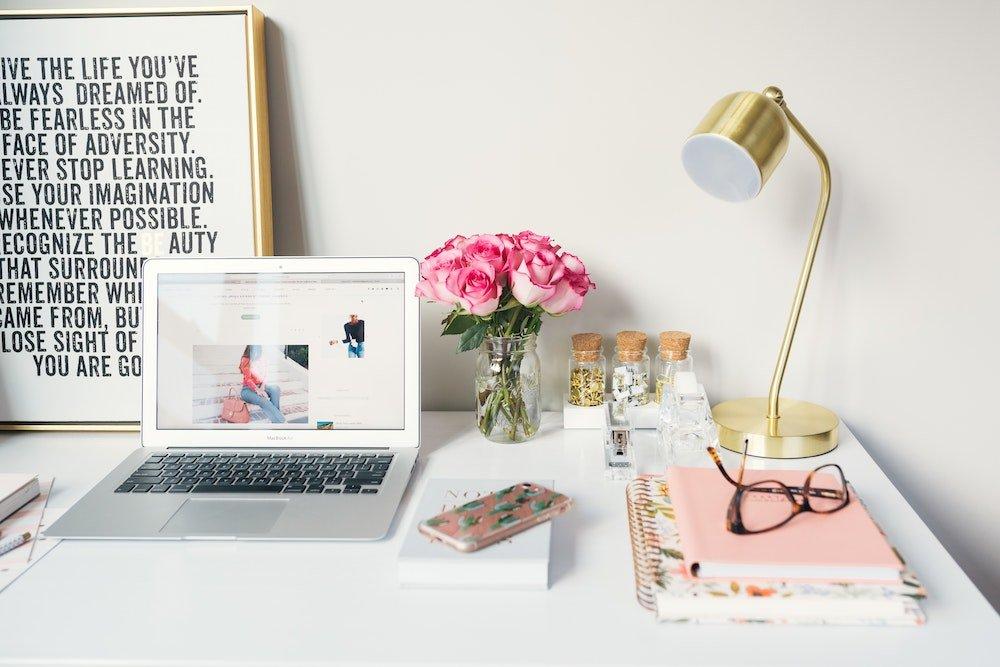 set up desk space