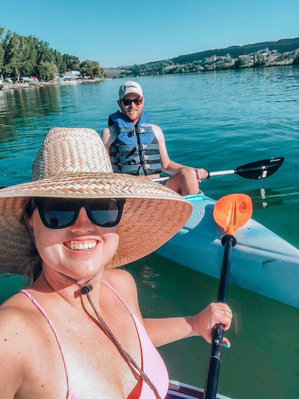 kayaking to blue heart springs idaho