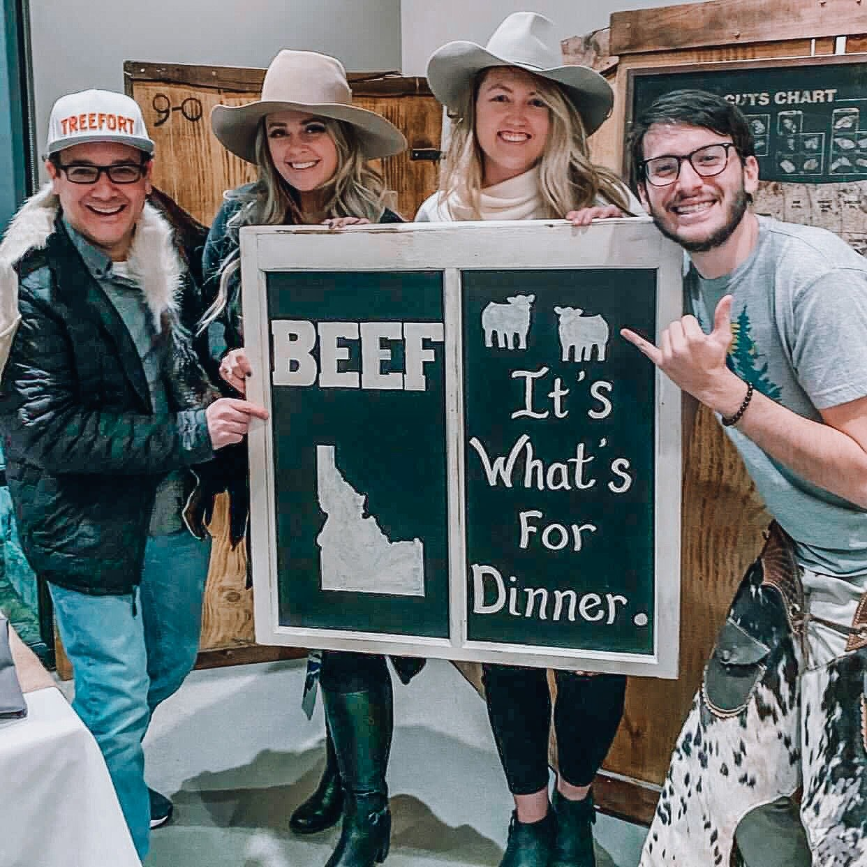 Idaho Beef Council with Katie Group Picture