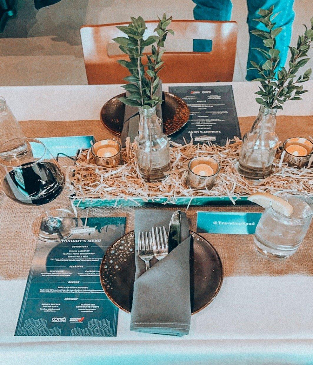 Coyne's Restaurant table setting