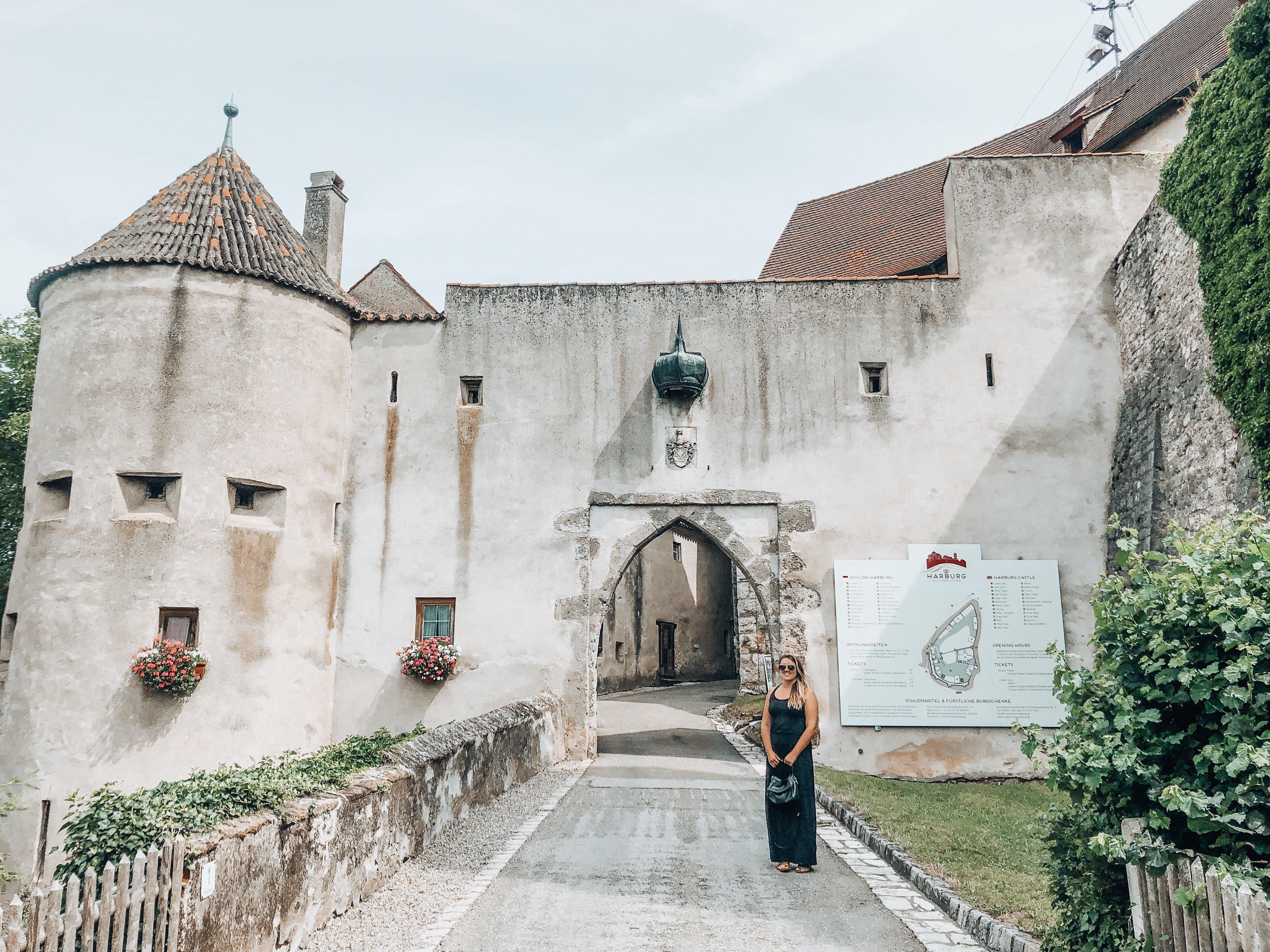 Harburg Castle entrance