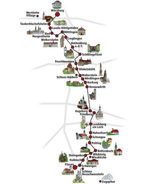 Romantic Road Map