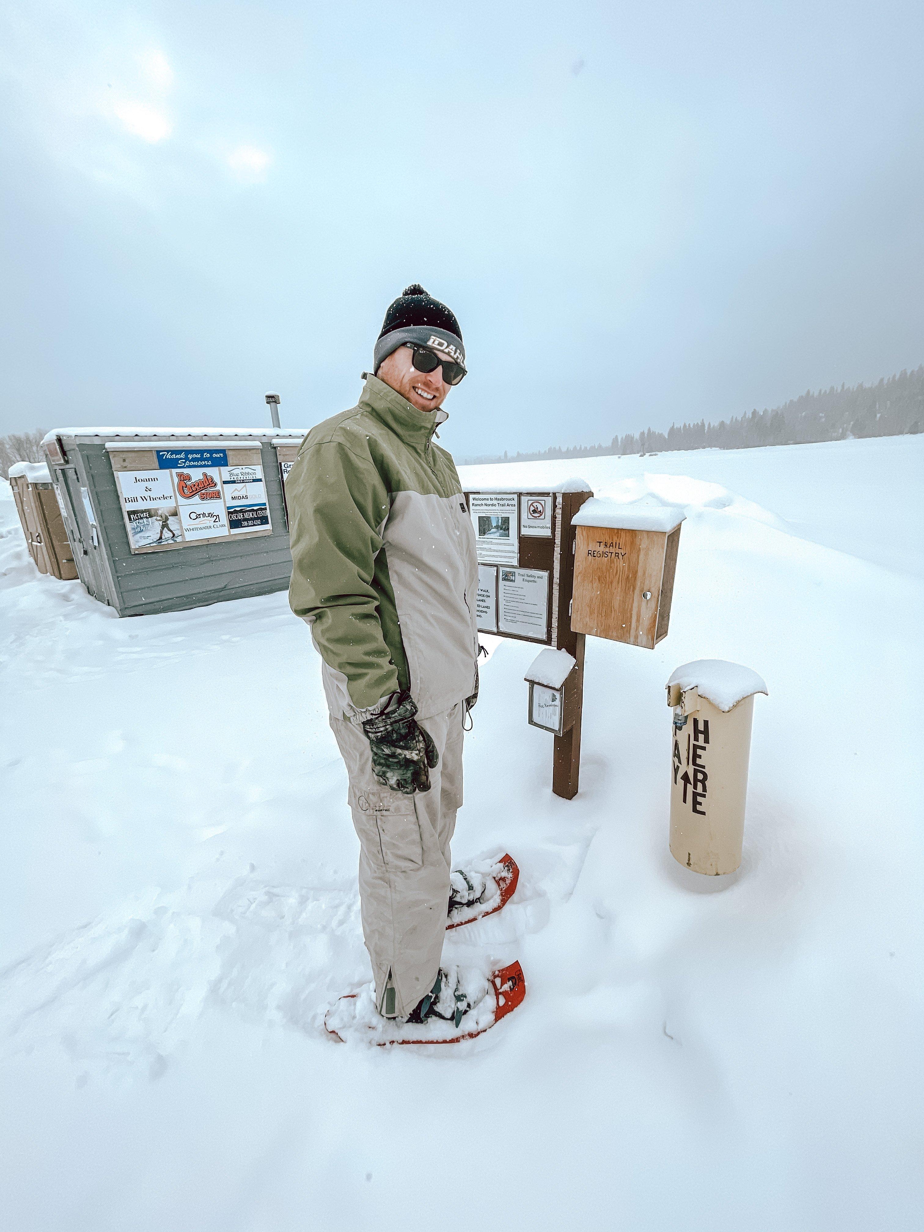 Cascade Idaho snowshoeing